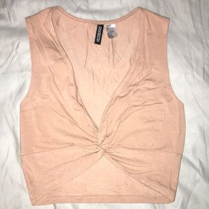 Salmon colored crop top
